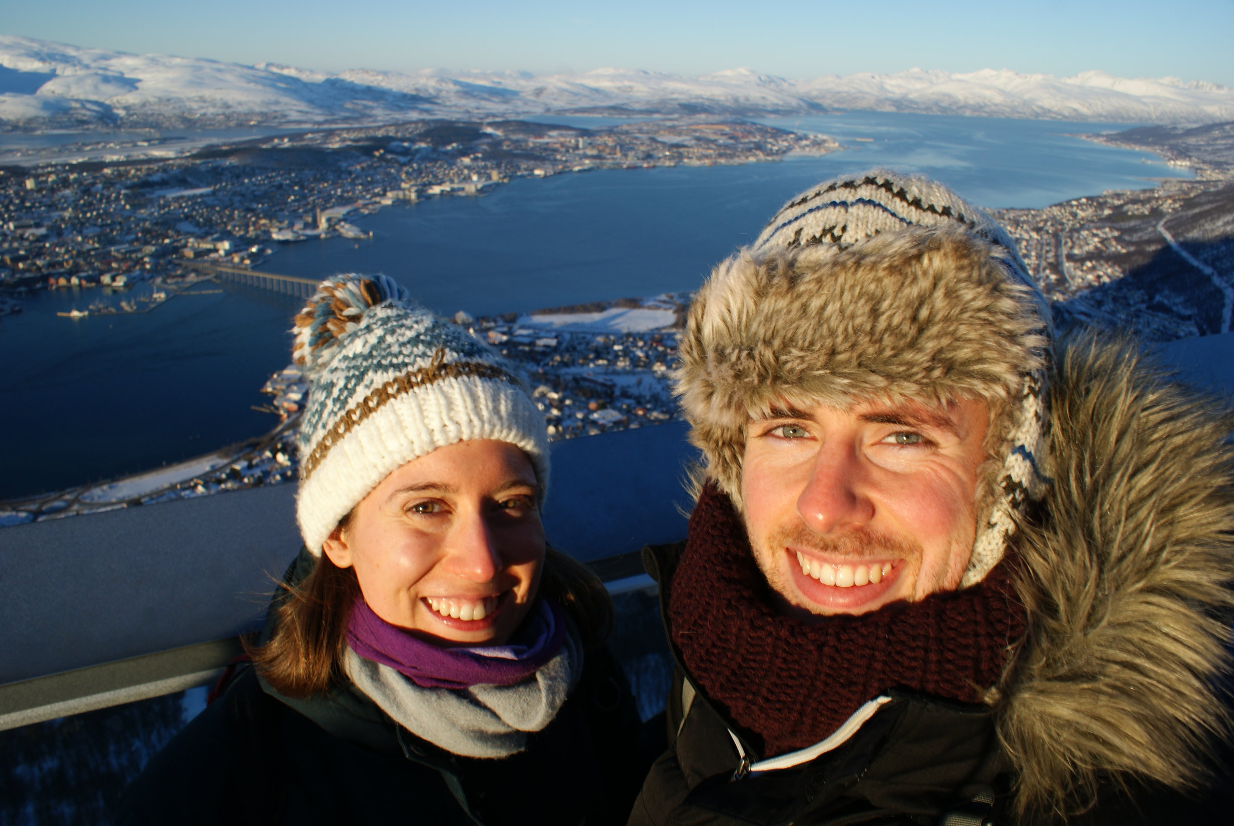 Co-founders Taylor and Ander in Tromsø, Norway.