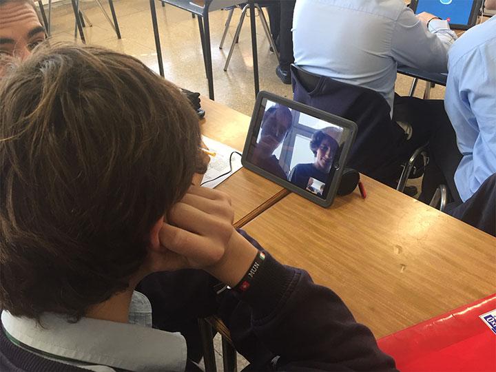 Compañeros de clase por videollamada - Colegio Munabe School Blogtext in Spanish
