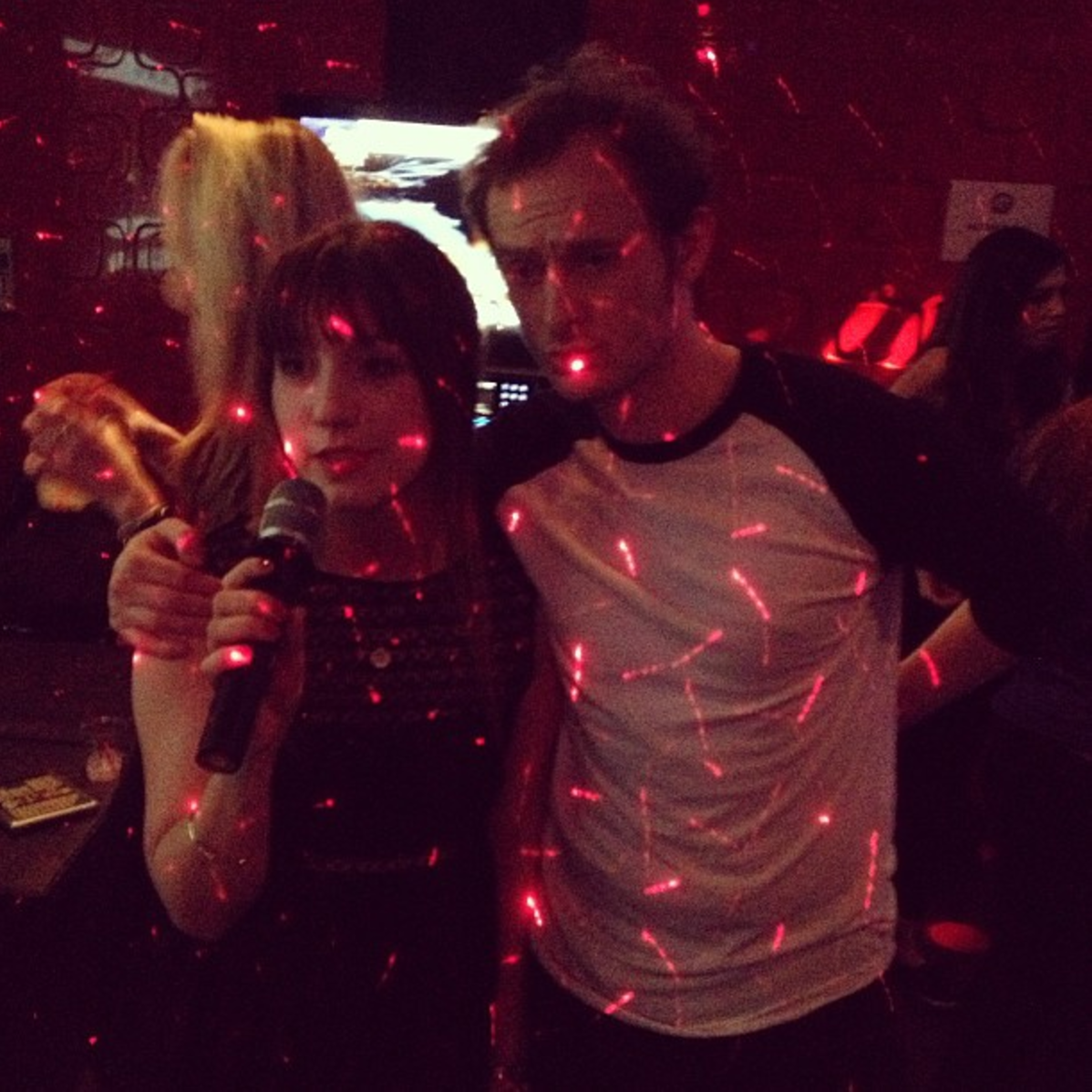 Kim and Christ at Karaoke in the Spring of 2013 (I think it may have been for her birthday)