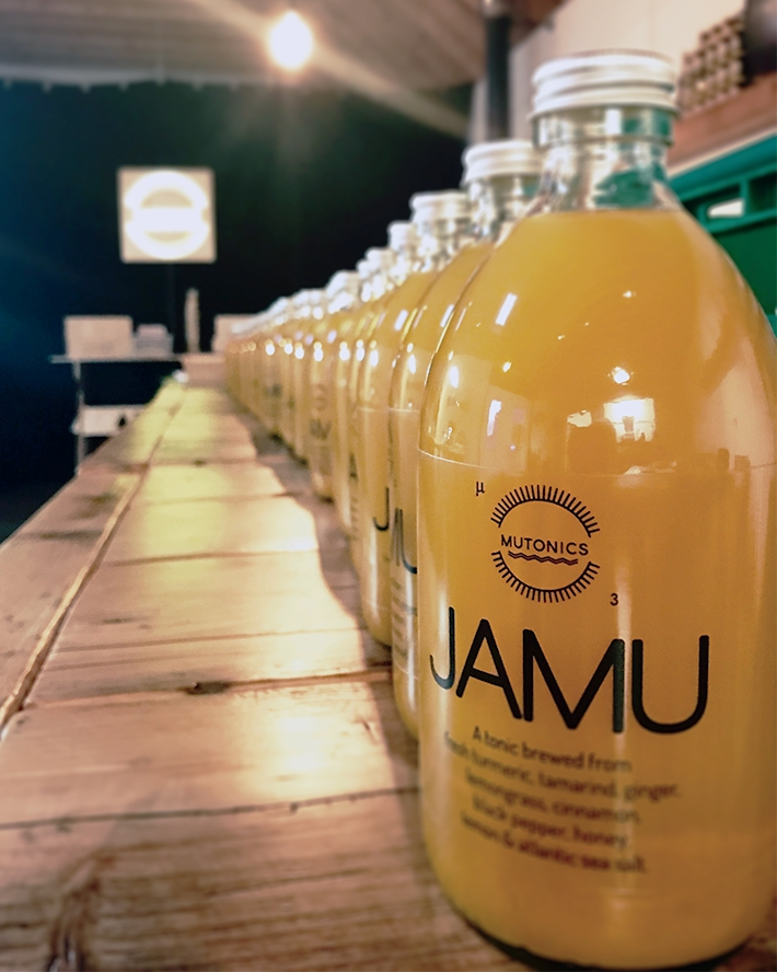 - Our first product is JAMU, an ancient Indonesian drink made from turmeric, ginger, and other powerful herbs and spices. There is no definitive recipe for Jamu. Every region of Indonesia has it's own version. It must however have Turmeric, Tamarind and Ginger as its base. Each ingredient in the mix stands alone as a wonder spice, herb or bark known for their beneficial properties. The colour alone would make you feel good!