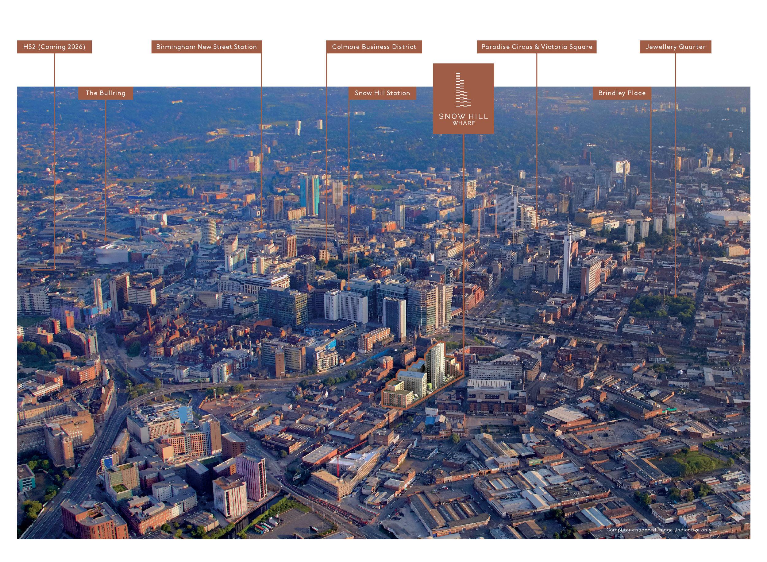 Snow Hill Wharf location map