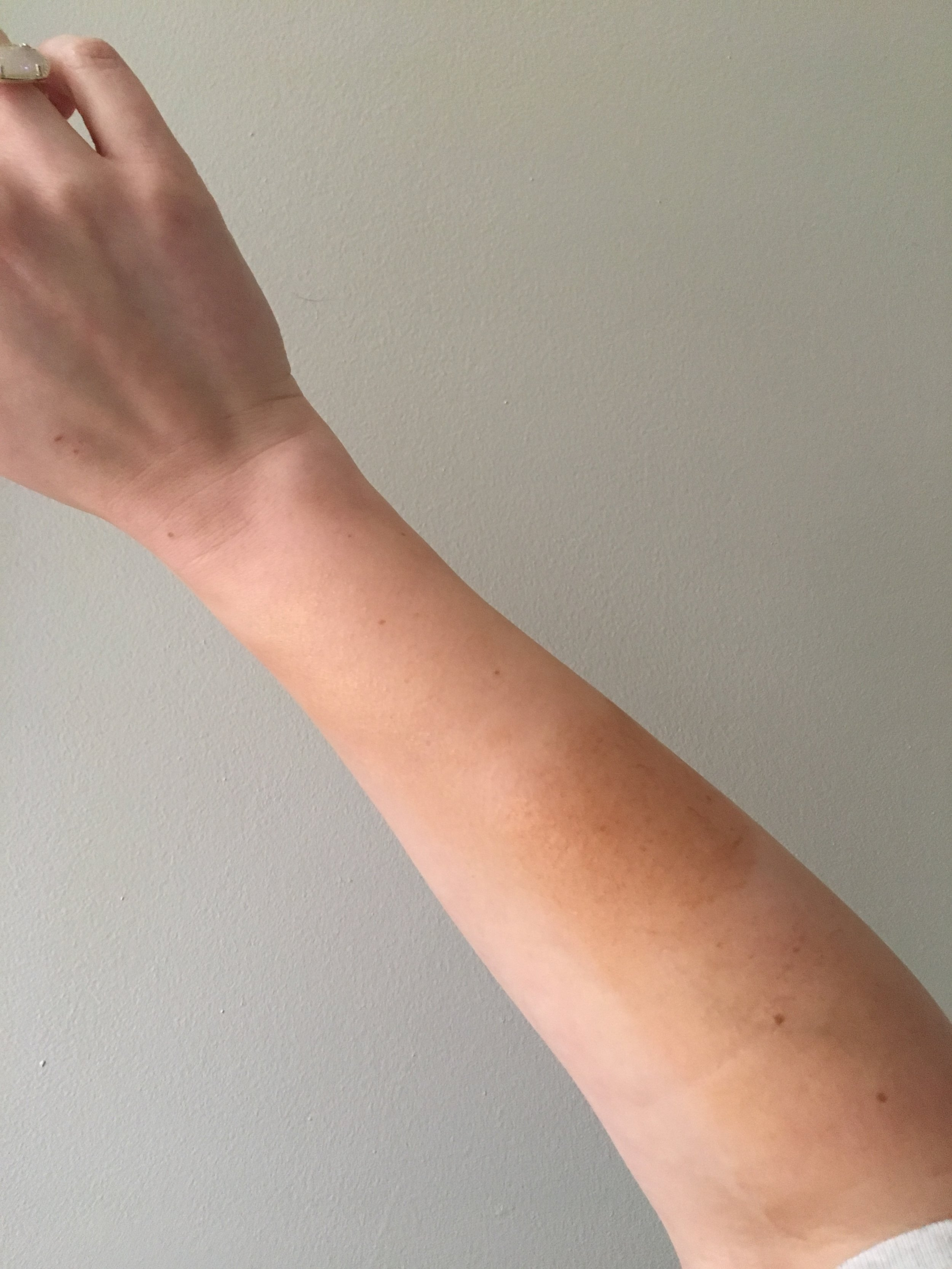 From wrist to elbow:  Melanie Mills Hollywood Gleam  in Rose Gold, Bronze Gold and Deep Gold