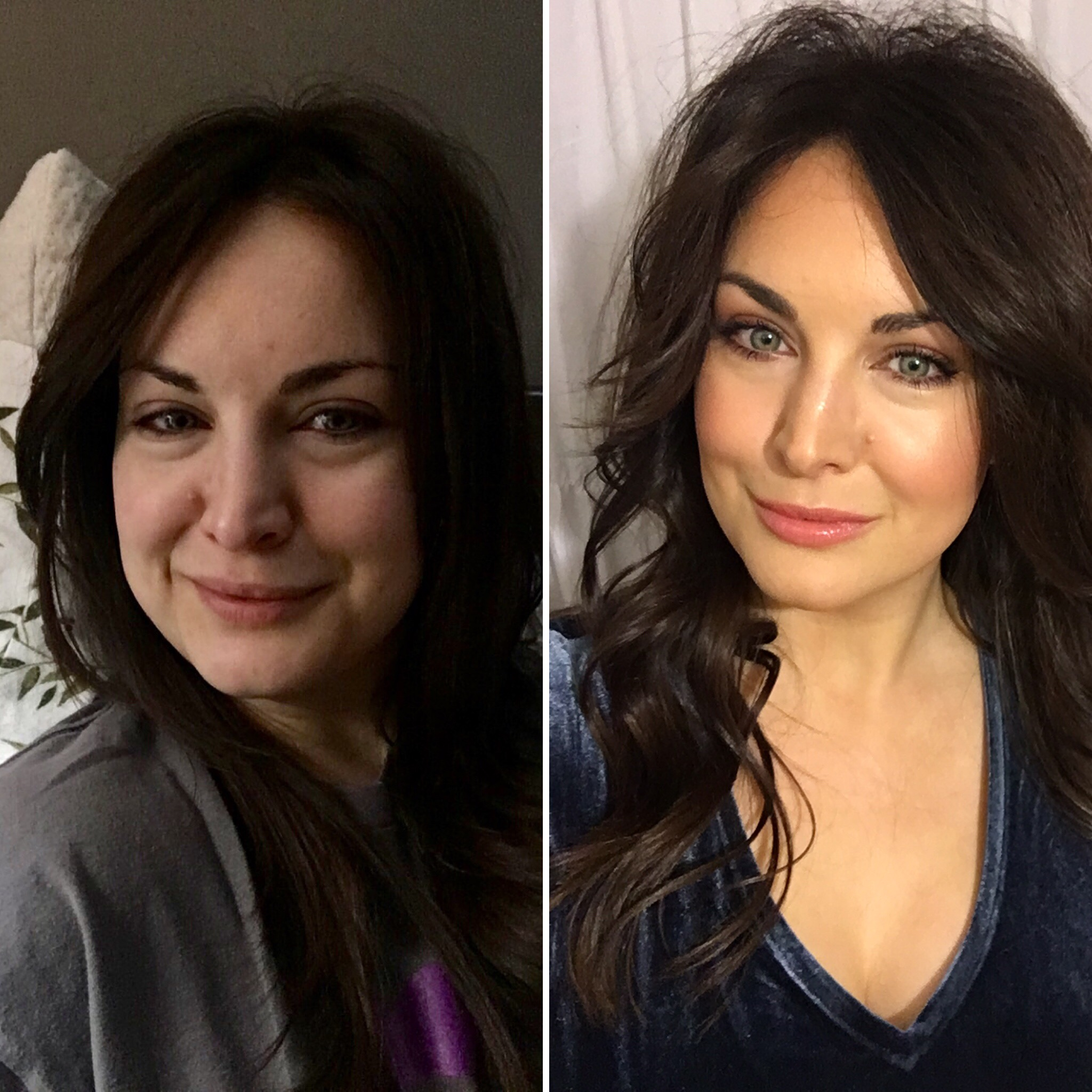 Before and after…and I was super sick!