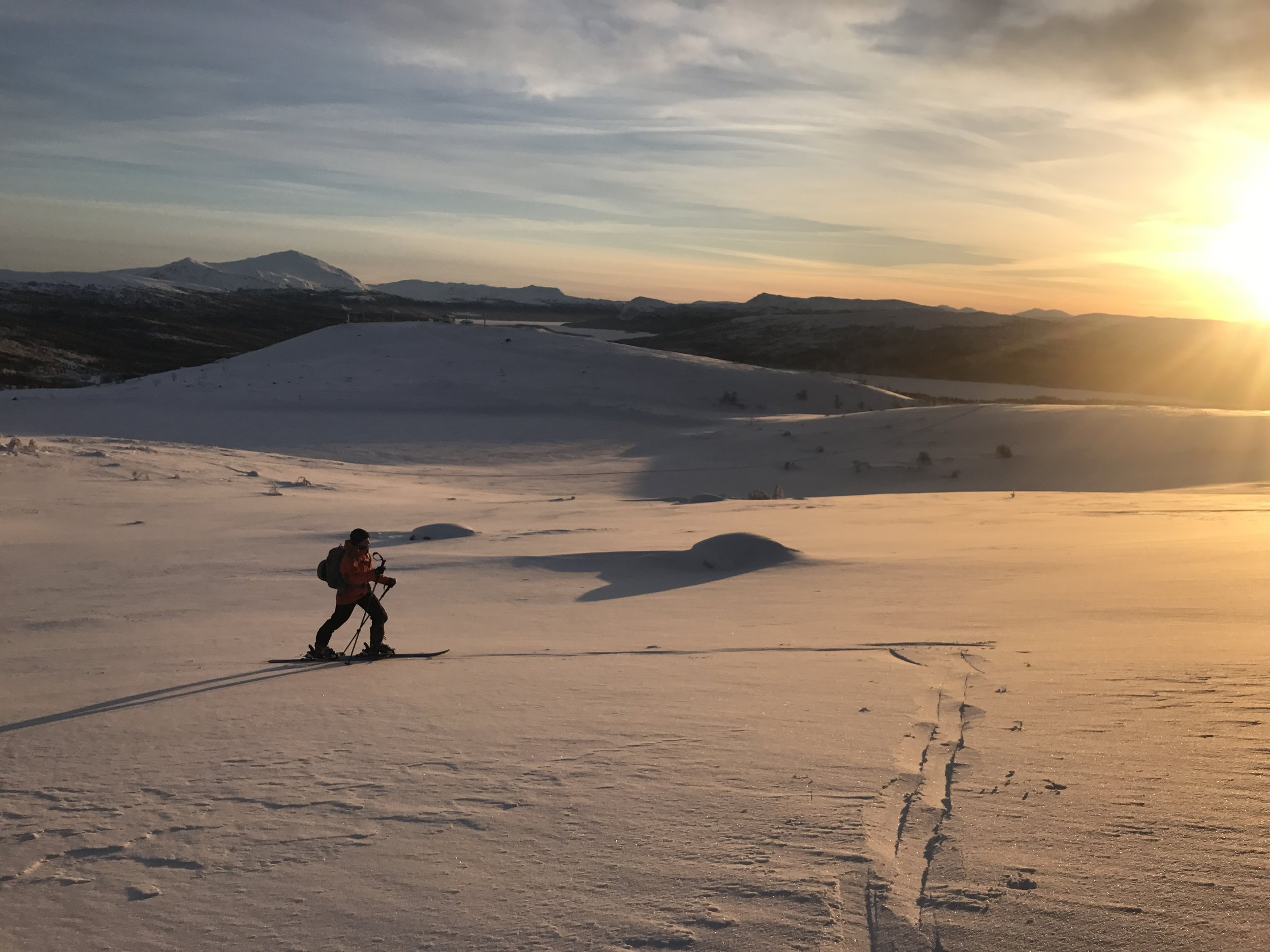 Skitouring in Tärnaby can be scenic.