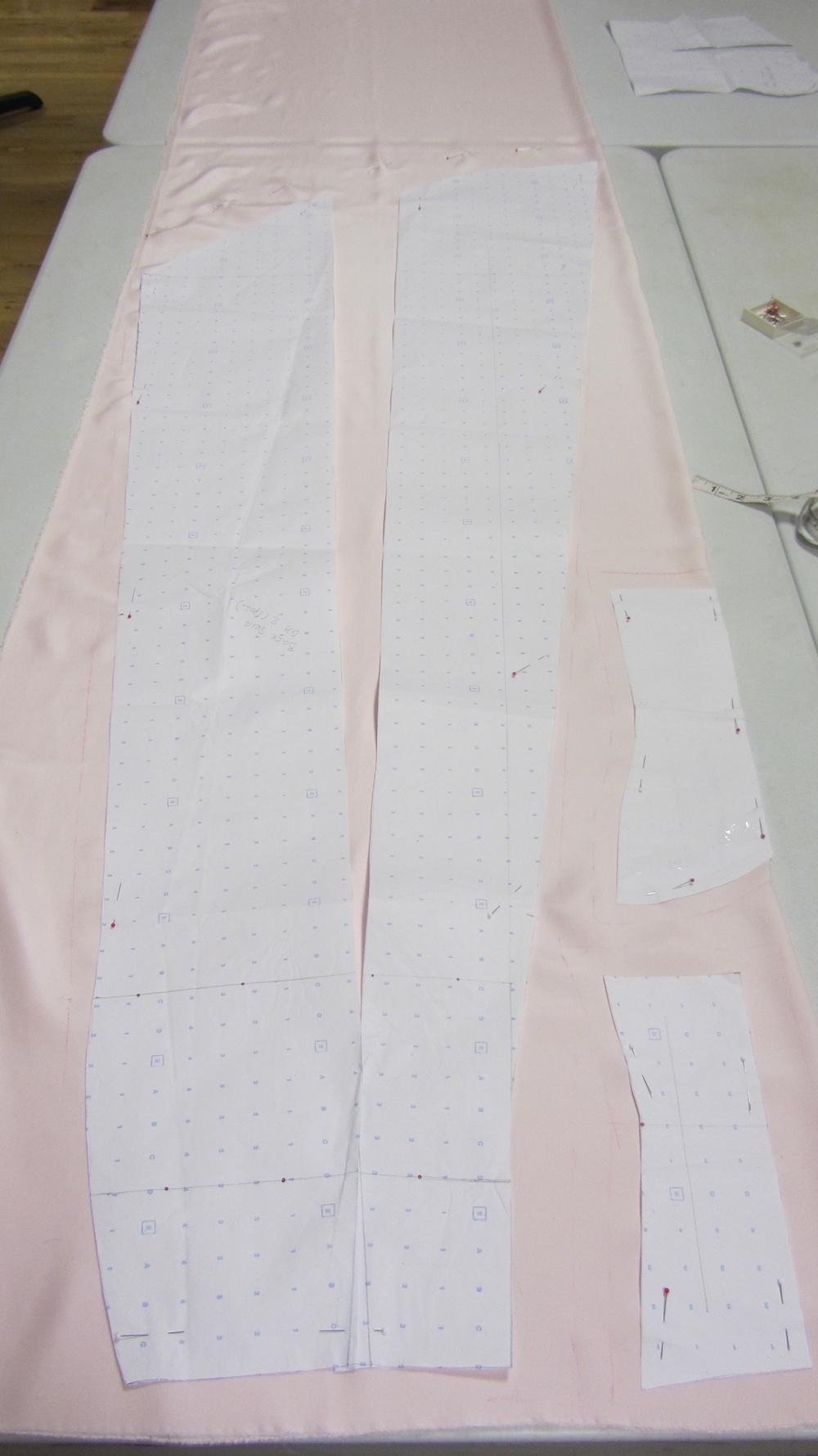 Handmade wedding dress satin skirt patern.jpg