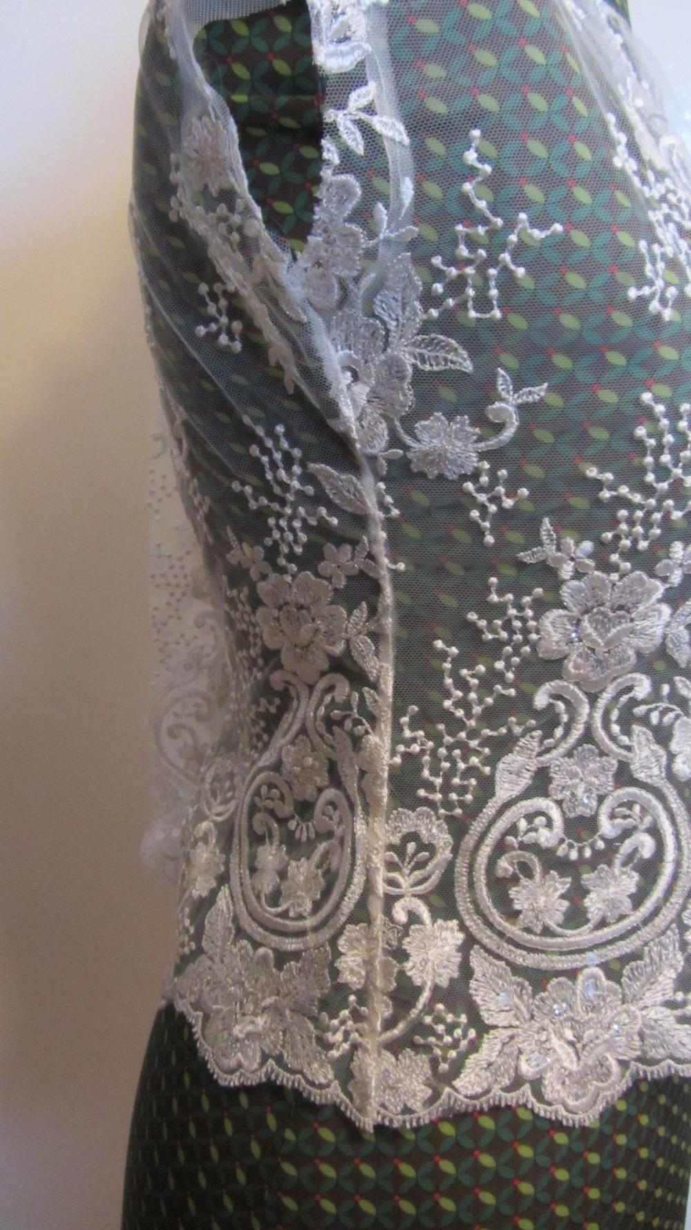 Handmade wedding dress shelley lace bodice side seams and cap sleeves.jpg