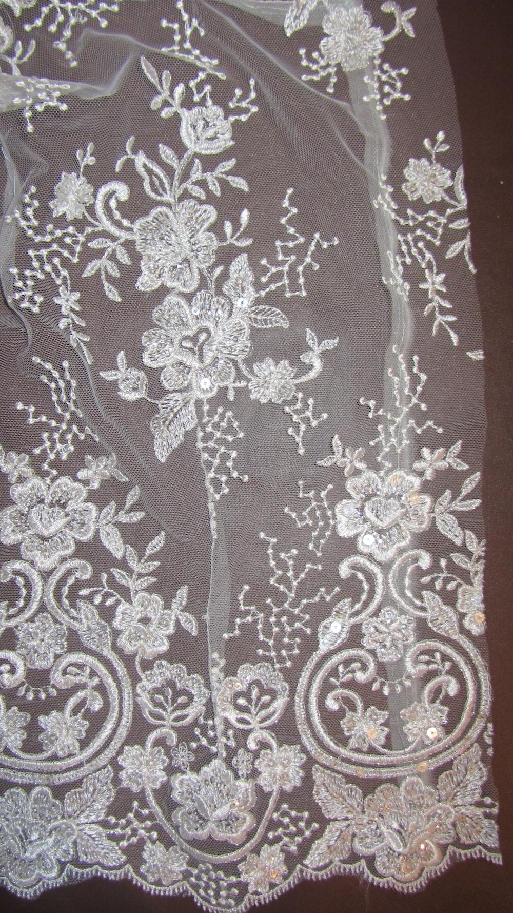 Handmade wedding dress shelley lace bodice with darts.JPG