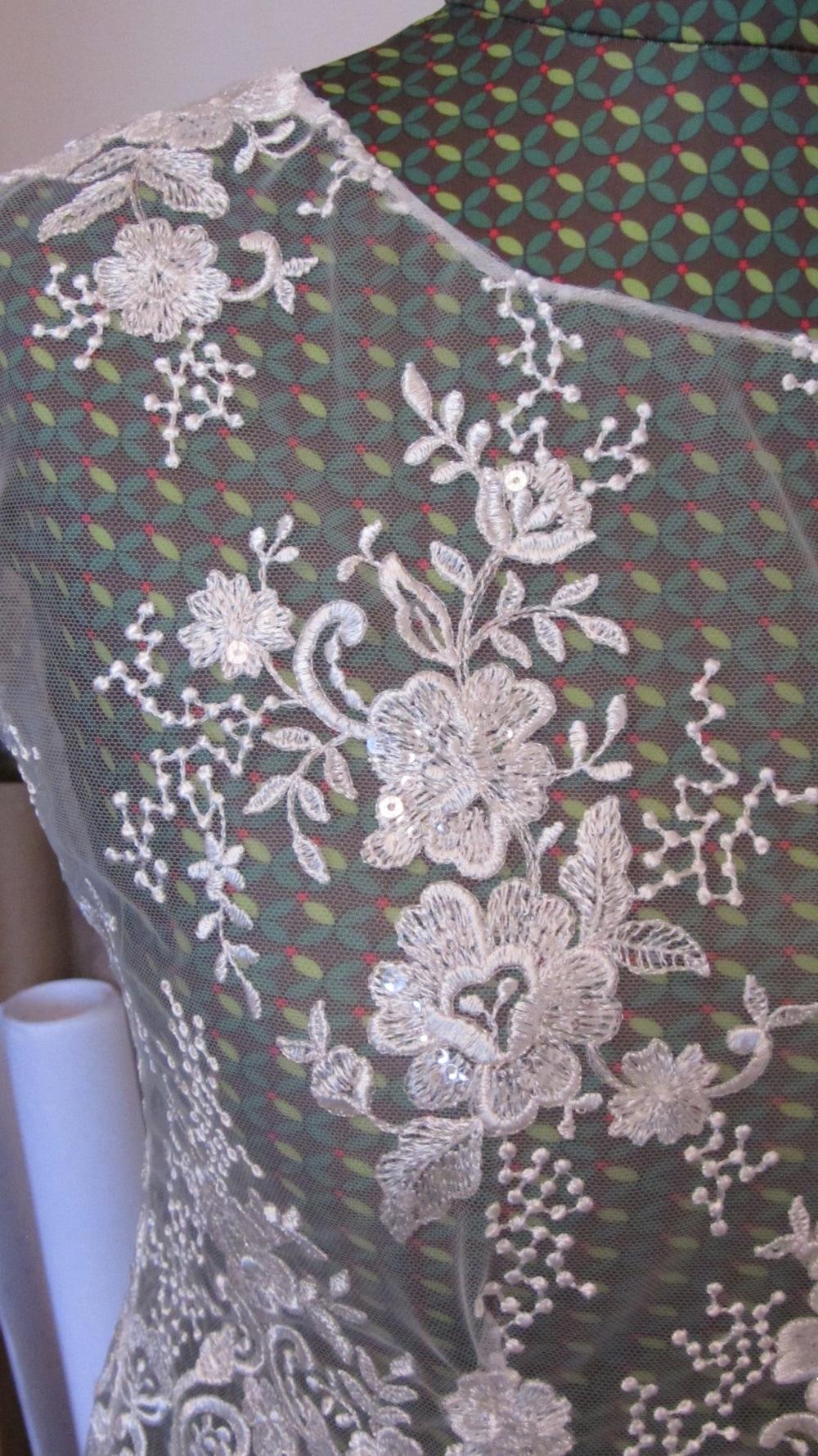 Handmade wedding dress shelley lace bodice applique lace neck line 2.jpg