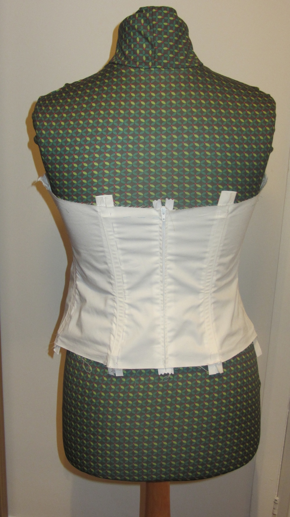Handmade wedding dress cotton twill bodice with boning 2.jpg