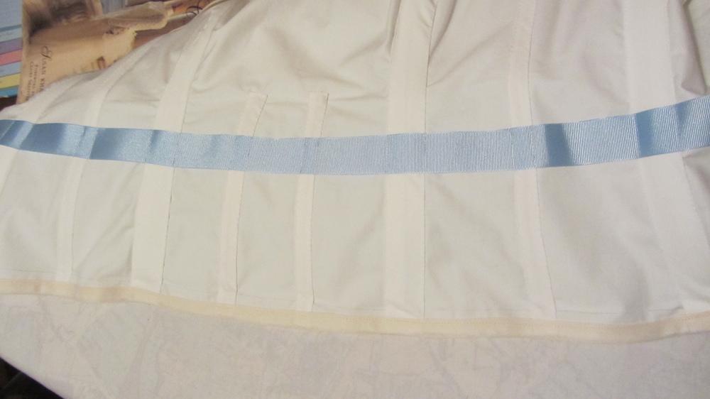 Handamde wedding dress cotton twill bodice and waist stay.jpg