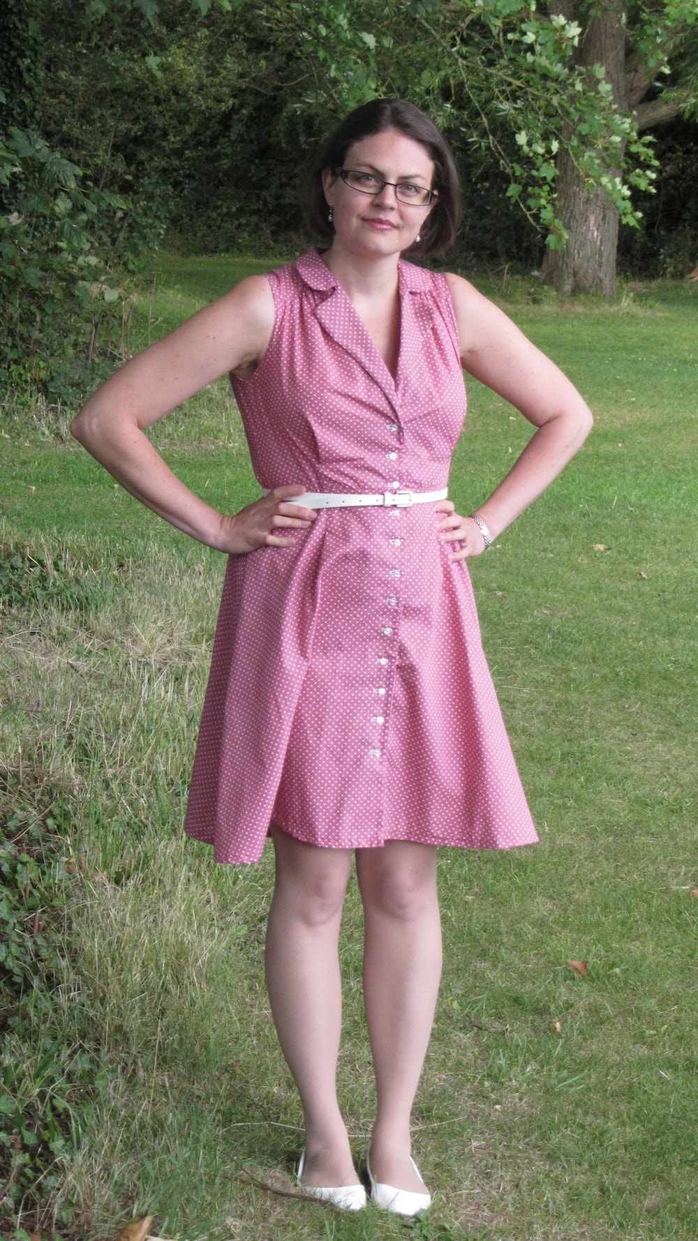 Sew Over It pink Vintage shirt dress 4.jpg
