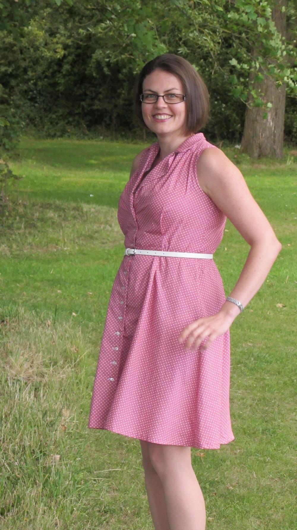 Sew Over It pink Vintage Shirt dress 3.jpg