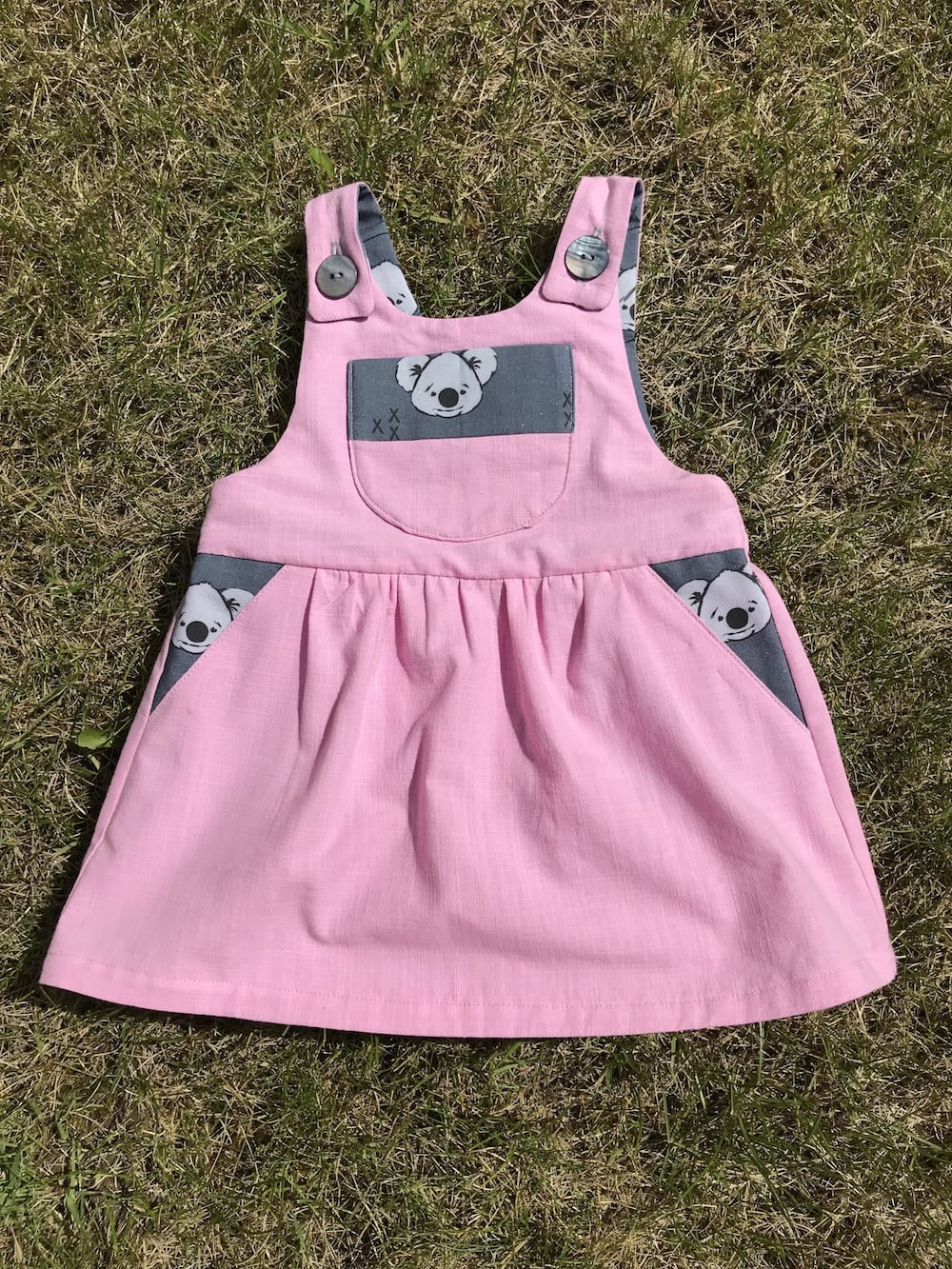 Puperita Lil Critters Pinafore Dress 3 month old baby girl.jpg