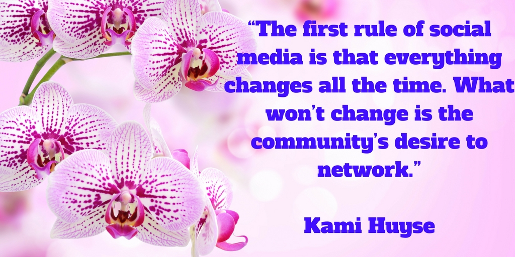 The first rule of social media is that everything changes all the time. What won't change is the community's desire to network.jpg