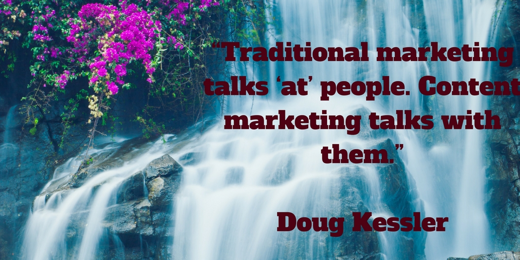 Traditional marketing talks 'at' people. Content marketing talks with them.jpg