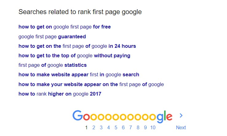 How to get on google first page for free
