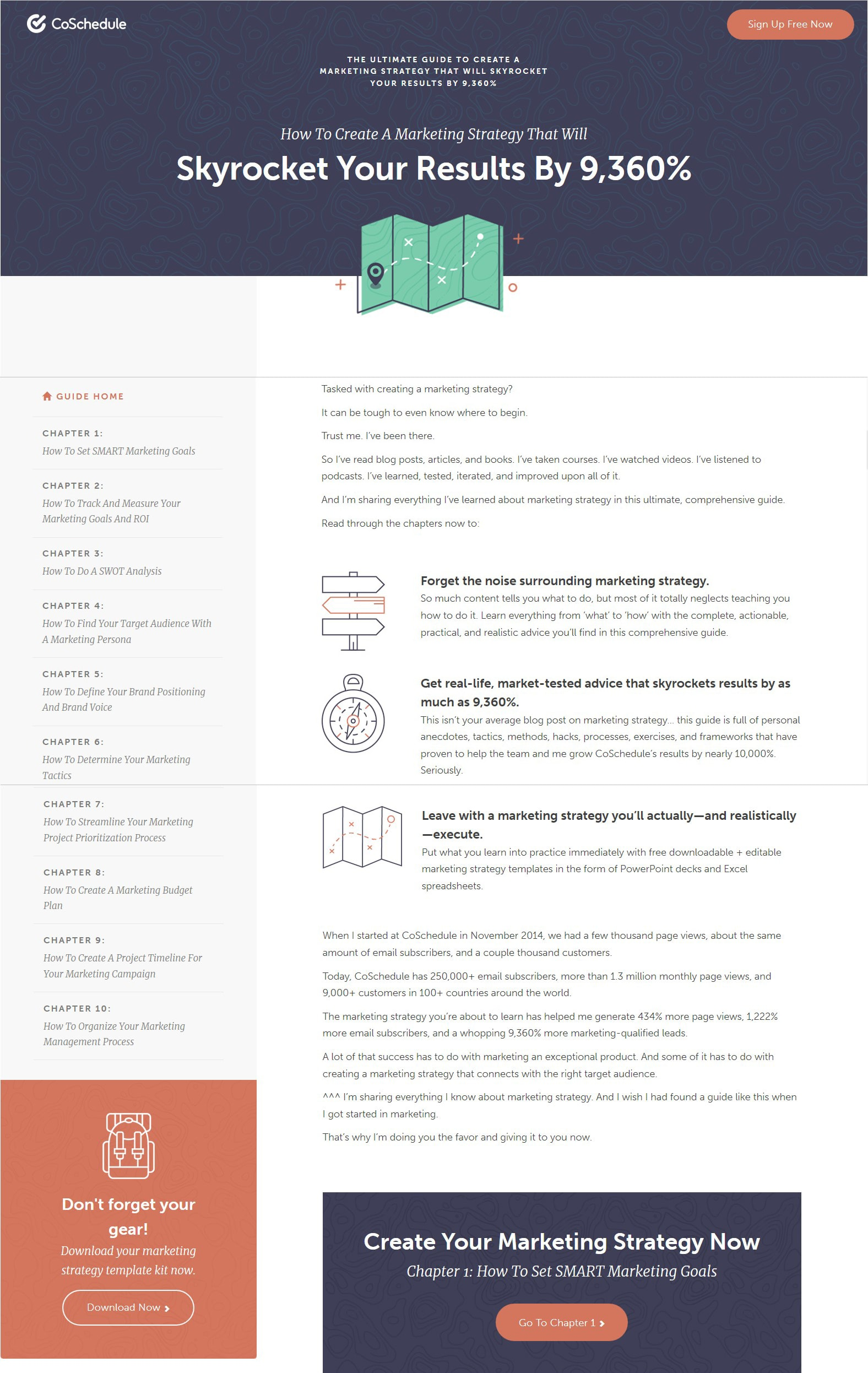 Landing Page example. Source:  CoSchedule