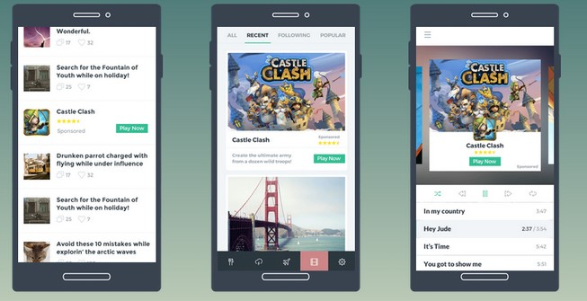 Mobile native ads example