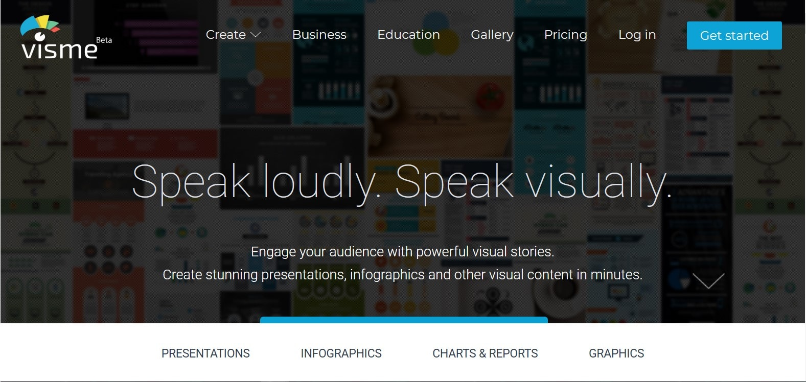 Visme infographic tools create infographics online