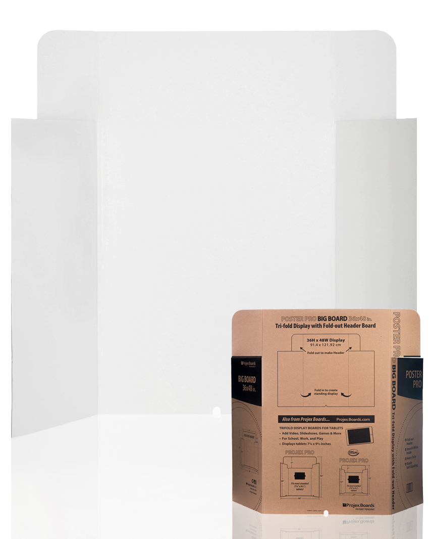 POSTER PRO TRIFOLD DISPLAY BOARDS WITH FOLD-OUT HEADER 19.99 - pOSTER PRO36h X 48W