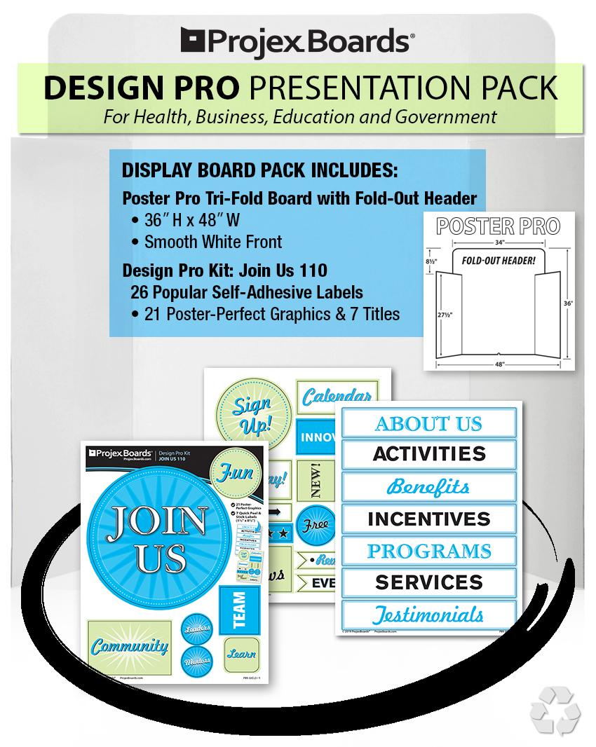 Projex Boards Trifold Presentation Boards for iPad Tri fold ...