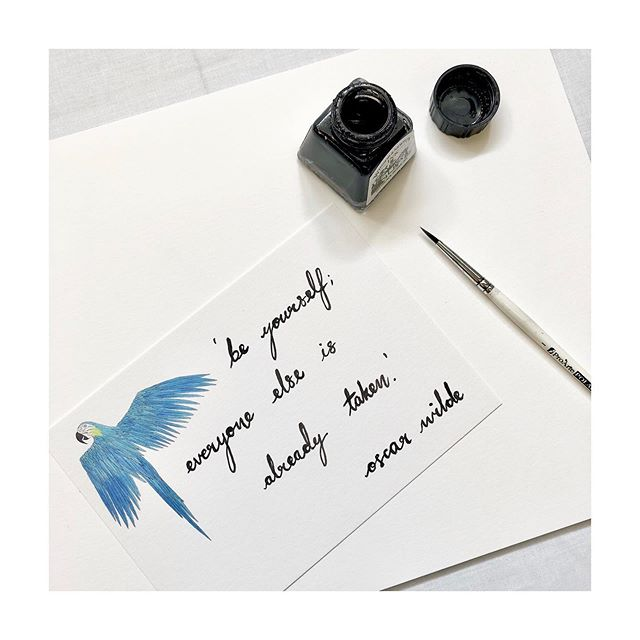 Playing around with new ways to brush letter and inspiring quotes ✨
