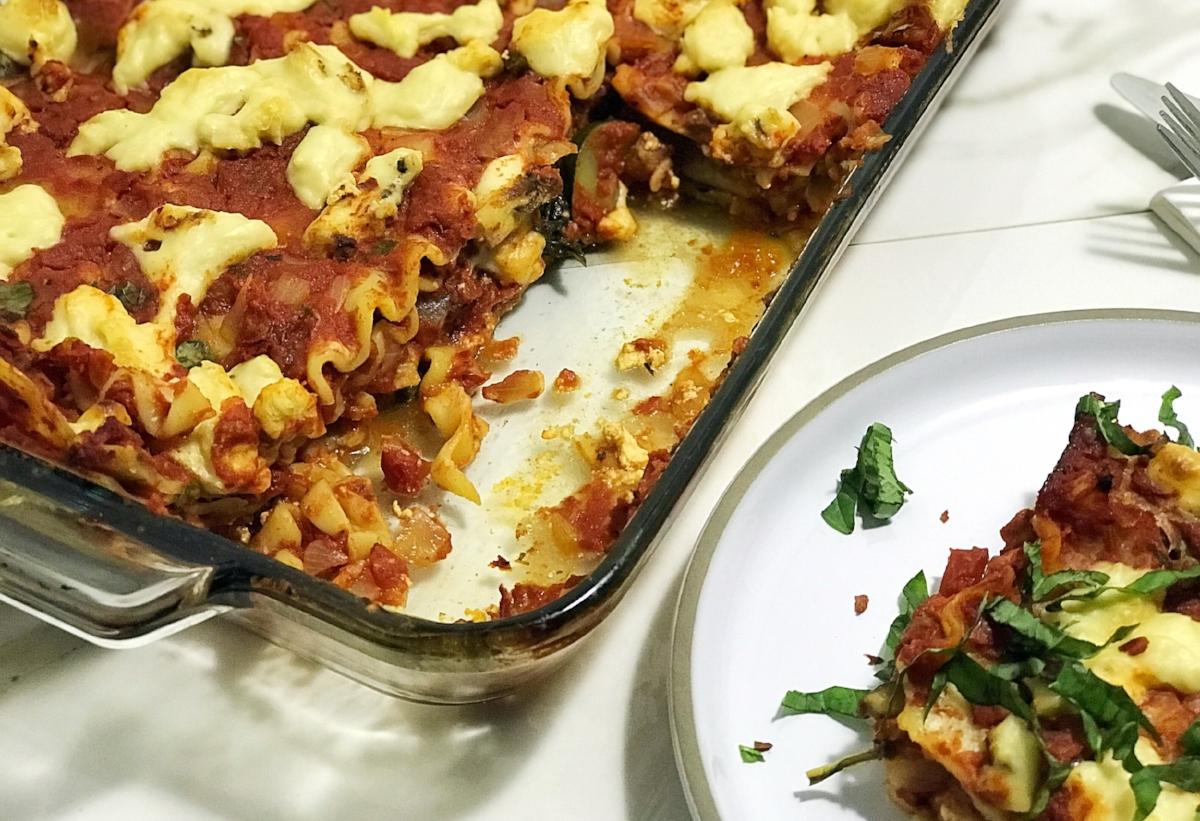 authentic vegan lasagna