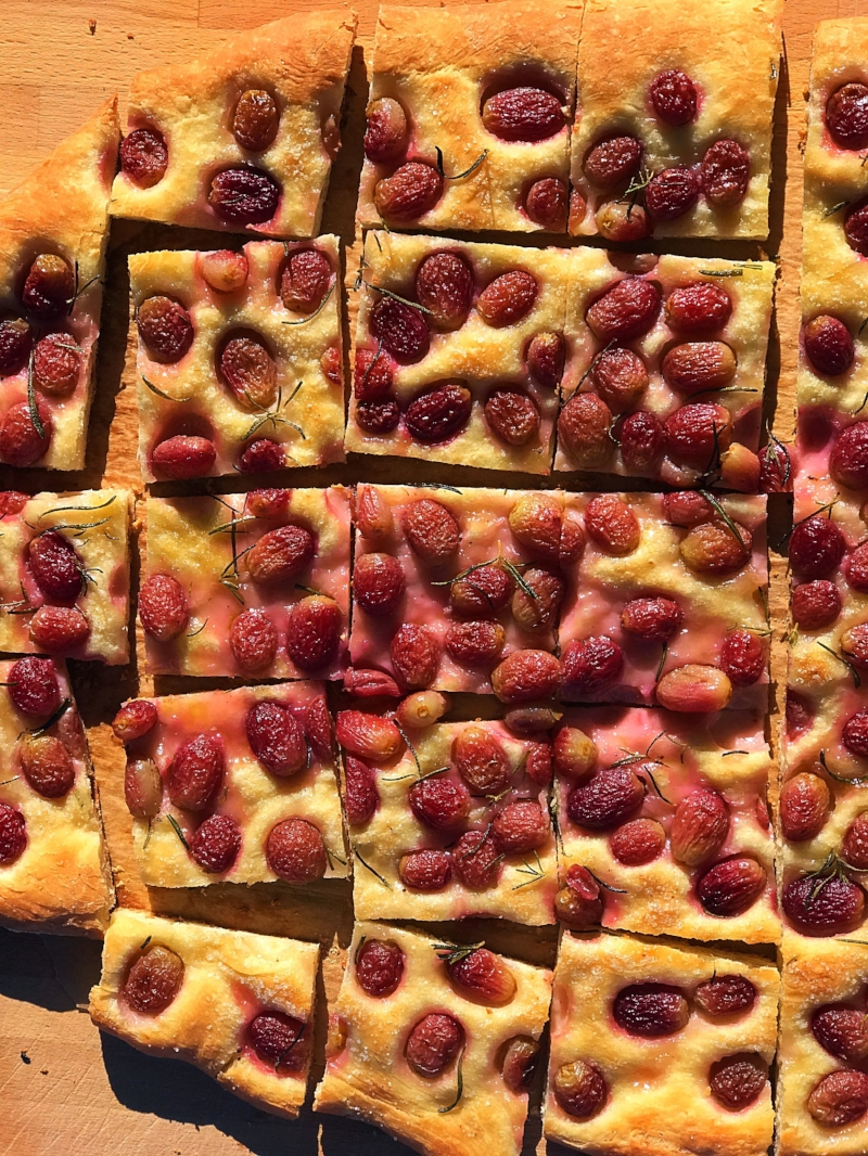 vegan tuscan grape focaccia