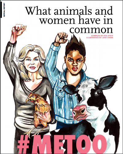 This was the  cover story  in a Friends of Animals spread.