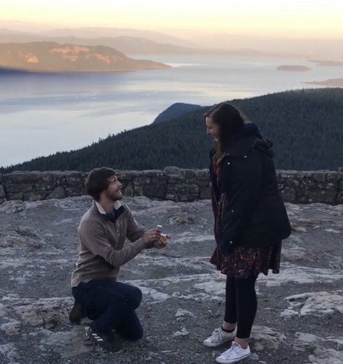 I got engaged at the top of Mount Constitution on Orcas Island, WA on 9/17/18