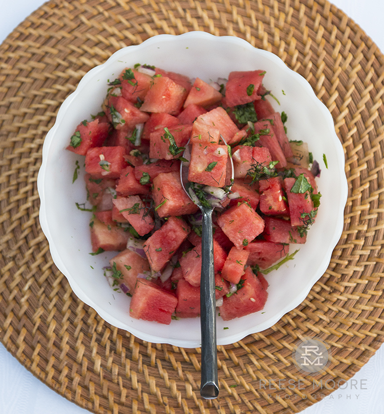 Savory Watermelon Salad - Recipe by Alicia Pope with Eat Your Way Clean100% Plastic Packaging Free Ingredients