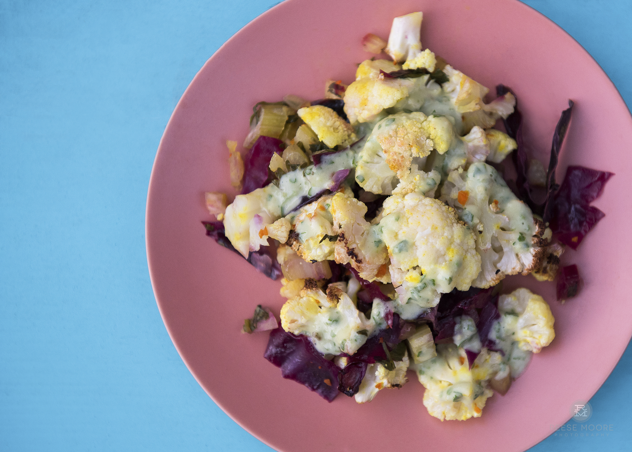 Turmeric Cauliflower Bake - Gluten free, vegan recipe by Alicia Pope with Eat Your Way Clean100% Plastic Packaging Free Ingredients