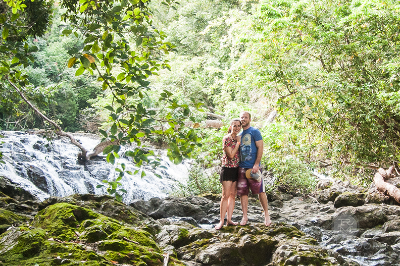Only 0.1% of clothing is being recycled.Everything else? Landfill. - (Nicole's crop top and me, hiking in Costa Rica.)