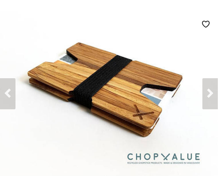 Recycled Chopstick Cardholder