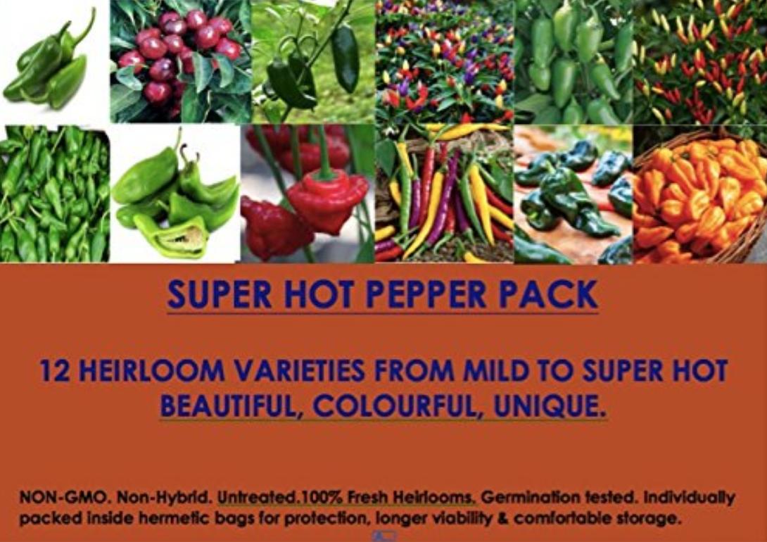 Non-GMO Heirloom Pepper Seeds