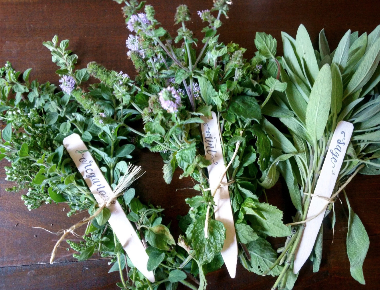 Handmade Herb Markers