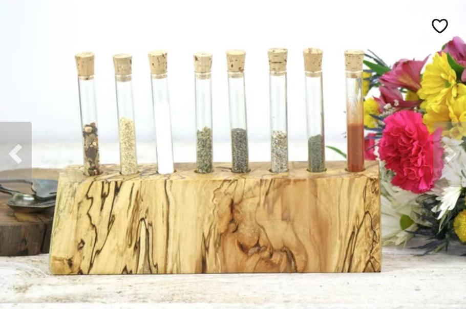 Salvaged Wood Spice Rack