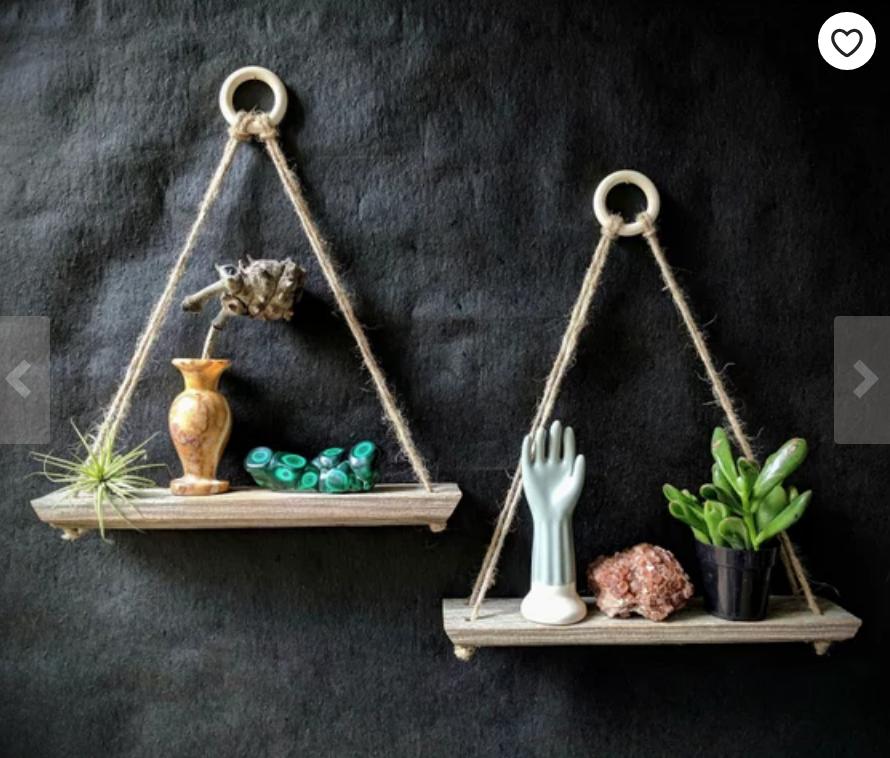 Reclaimed Wood Hanging Shelf