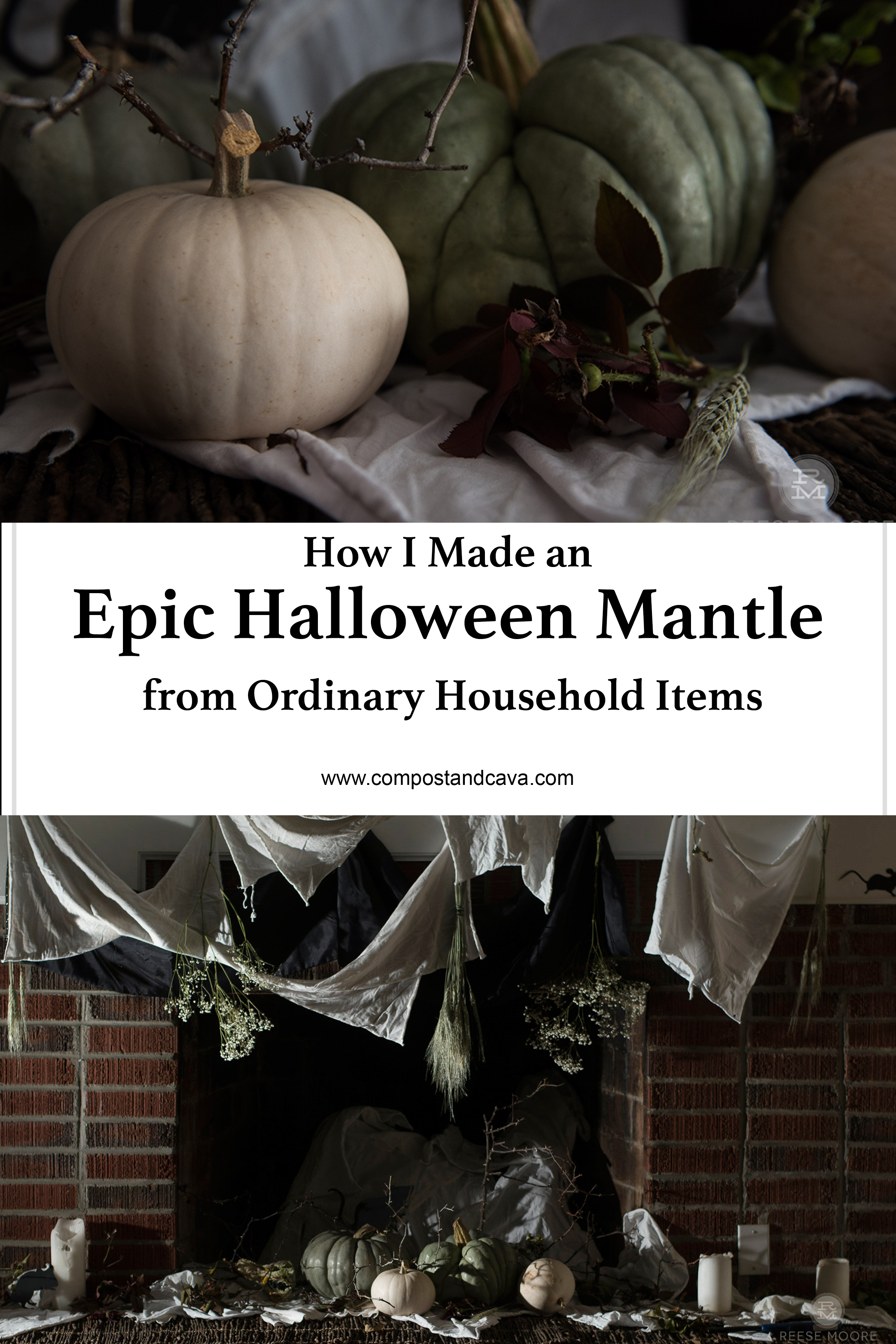How I Made an Epic Halloween Mantle from Ordinary Household Items