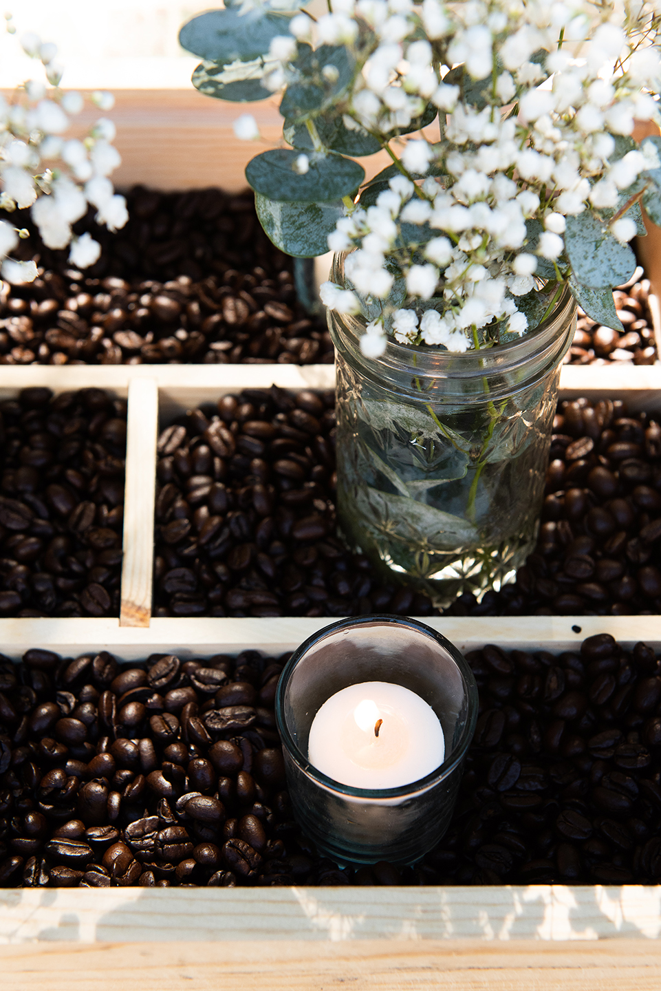 Upcycled Coffee Themed Tablescape for Zero Waste Holidays