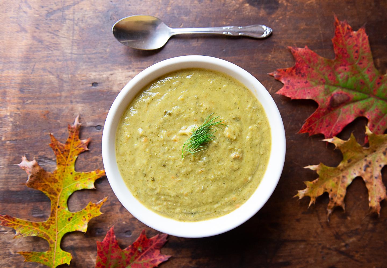 Rich, Healthy Broccoli Leek Soup - 100% Plastic Packaging Free Ingredients