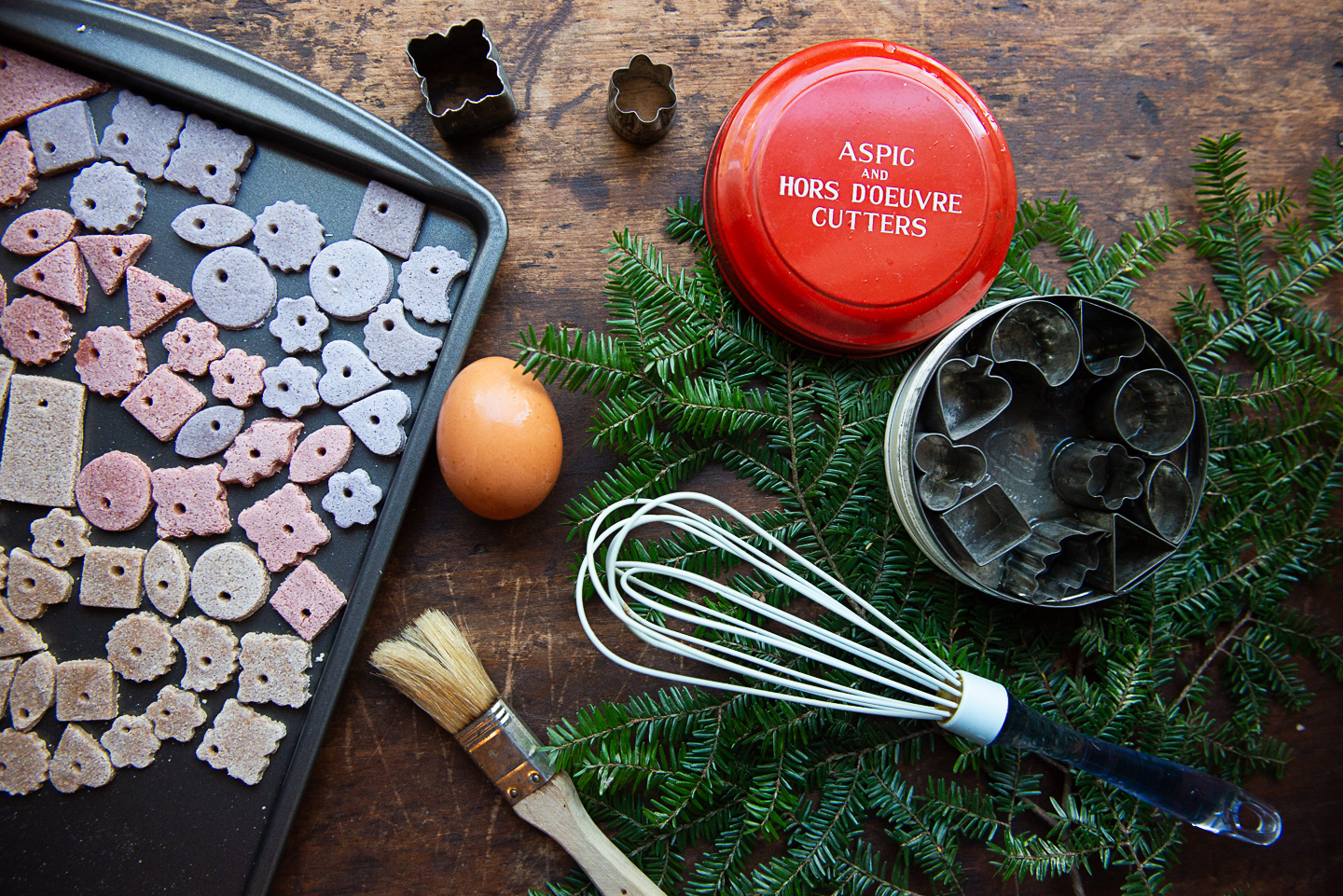 Modern Minimalist Christmas: Natural, Botanical Salt Dough Ornaments