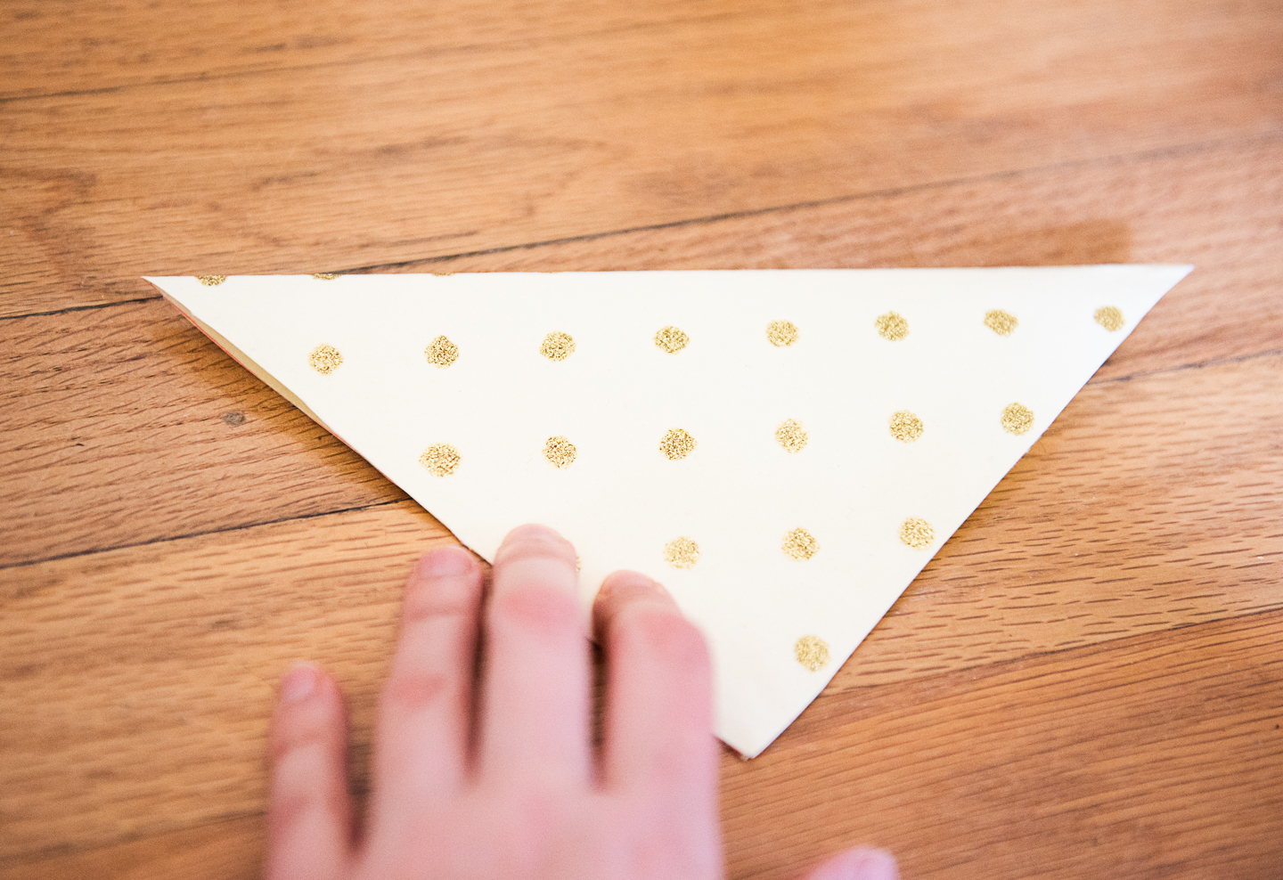 DIY Paper Banner from Upcycled Wrapping Paper