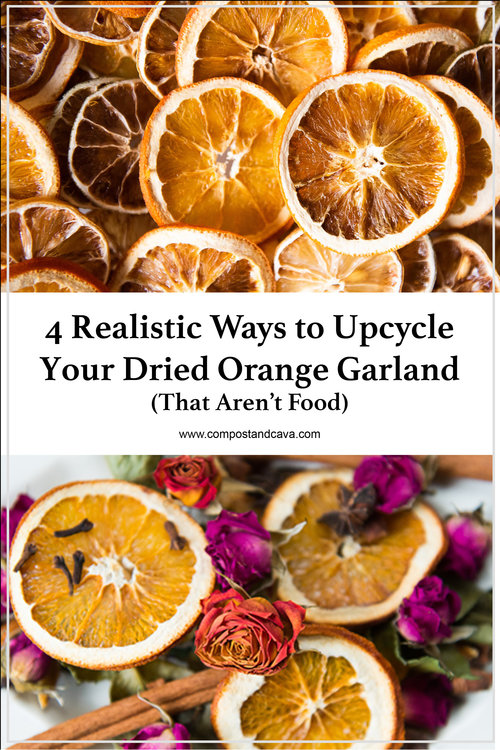 4 Realistic Ways To Upcycle Your Zero Waste Dried Orange Garland That Aren T Food Compost And Cava