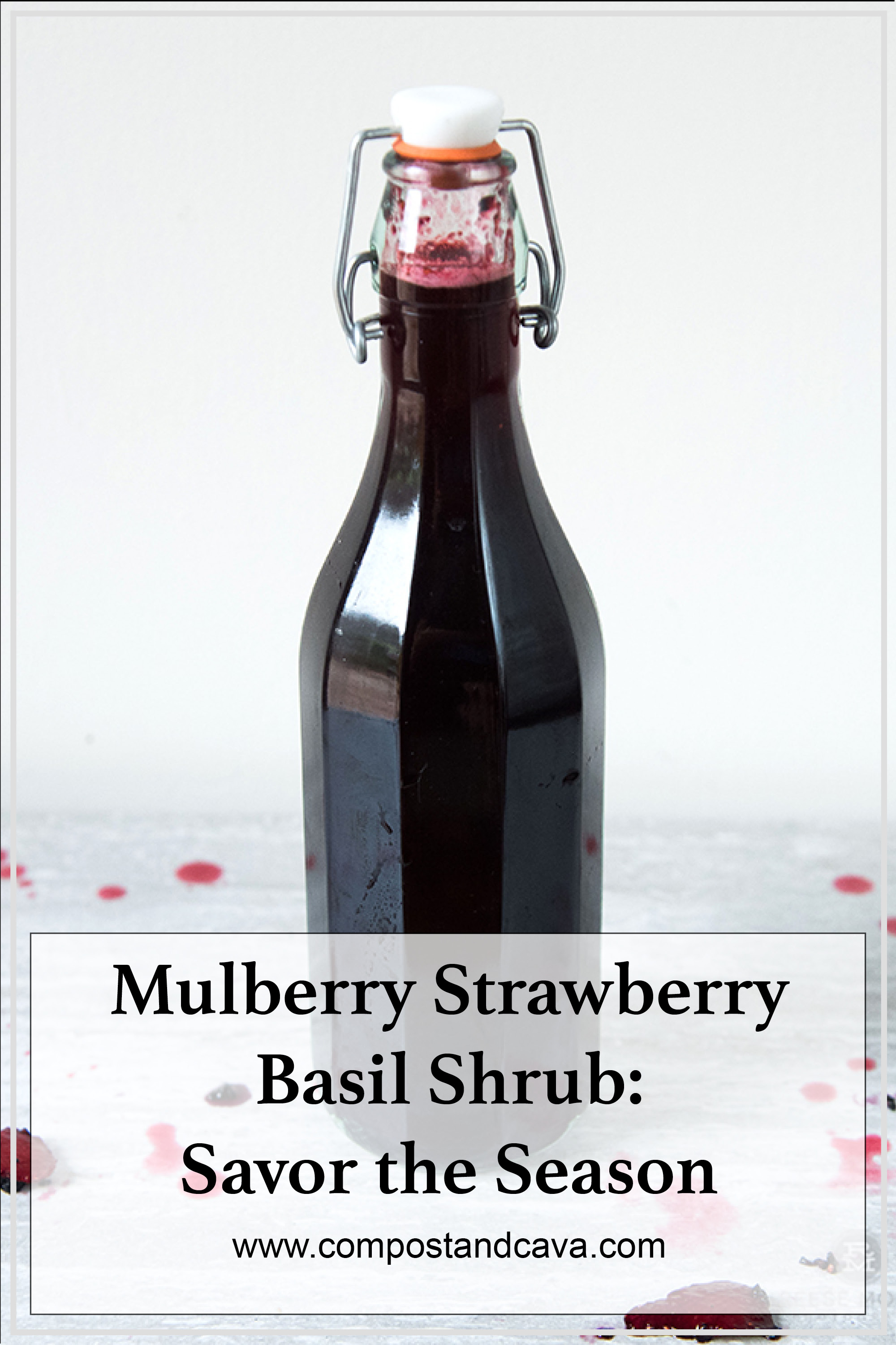 Mulberry Strawberry Basil Shrub: Savor the Season and Eliminate Food Waste