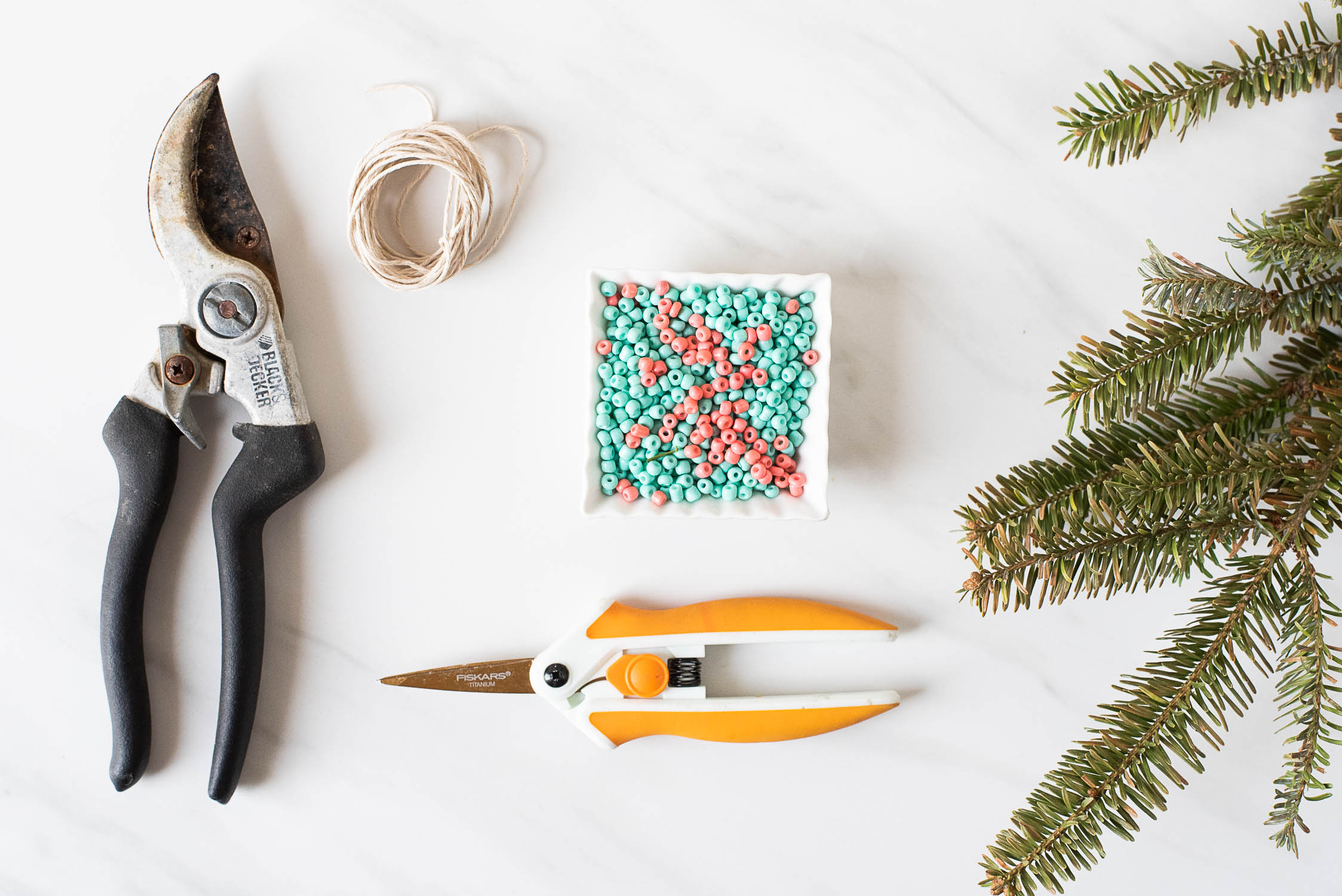 How to Upcycle Your Christmas Tree into an Adorable Table Runner