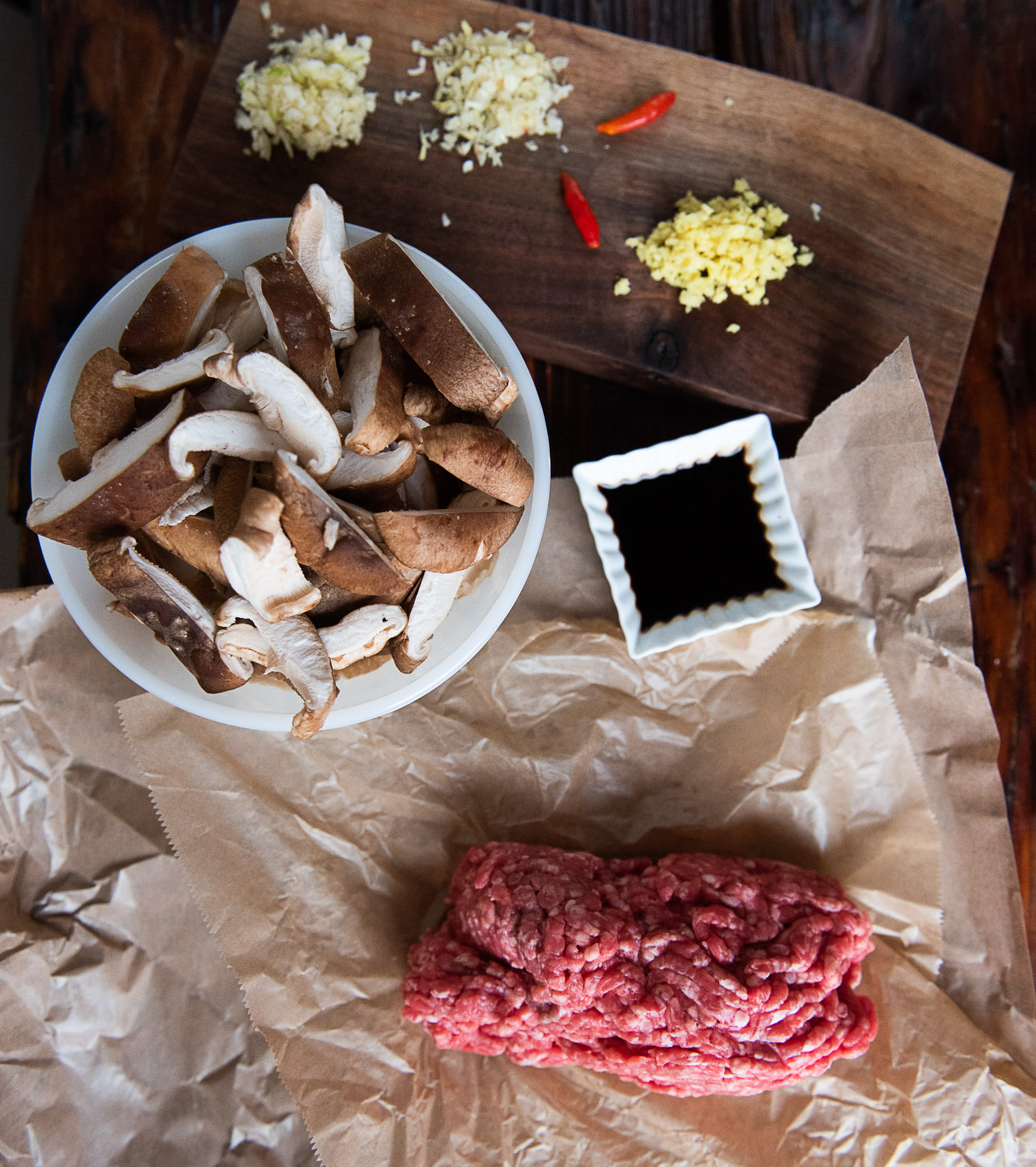 Beef and Shiitake Mushroom Bahn Mi Tacos