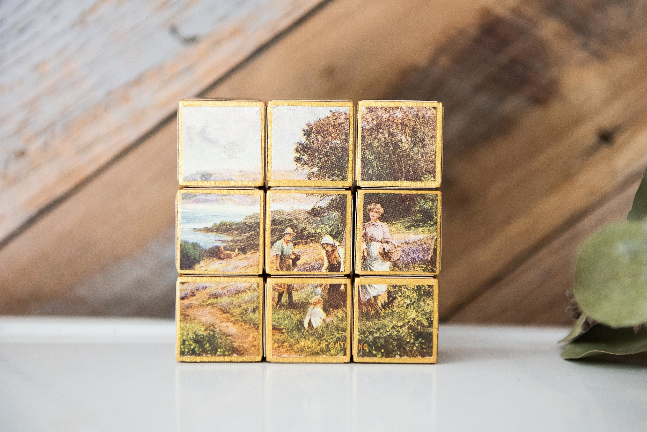 handmade wood block puzzle