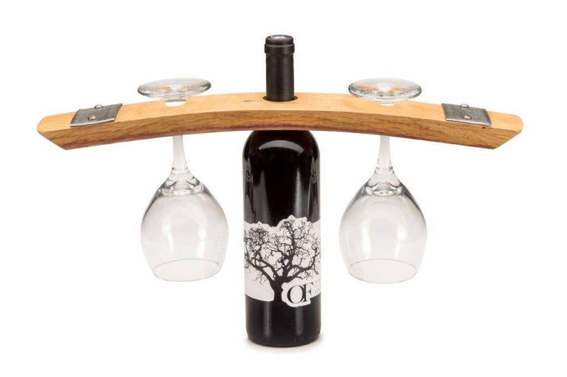Repurposed Barrel Wine Caddy