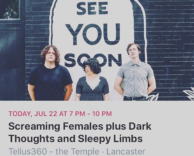 Tonight we're playing with the always righteous @official_screamales and Dark Thoughts at Tellus 360, come onnnn out!